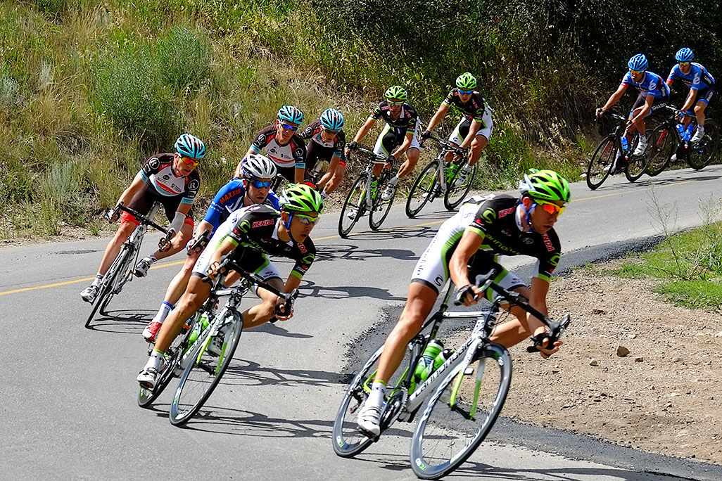 USA Pro Cycling Race in Aspen photographed by Mike Lyons power plant rd